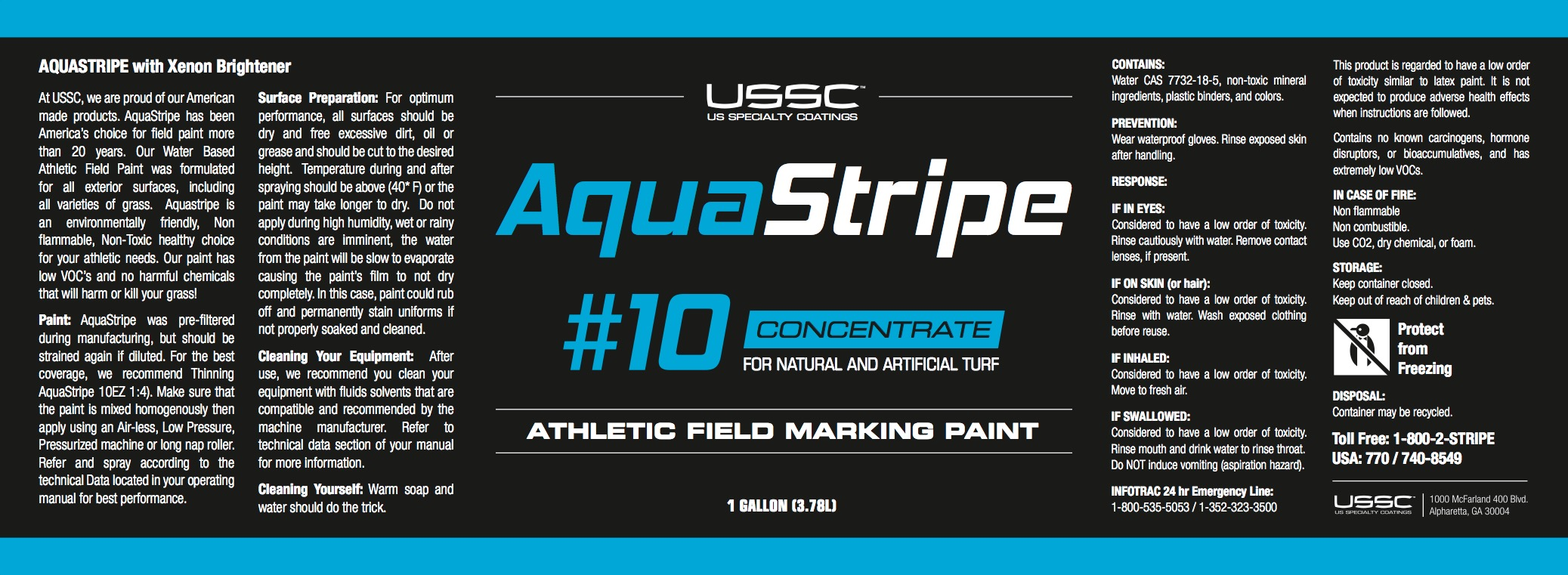 aquastripe 1gal label